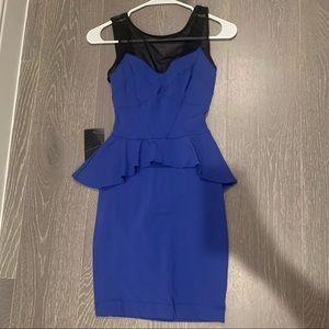 Blue Bebe Peplum Dress Size XXS, NWT